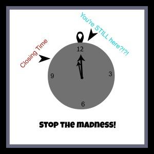 closing clock