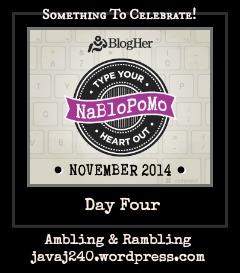 NaBloPoMo14DayFour