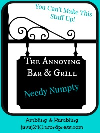 the annoying bar & grill needy numpty